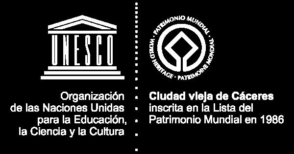 Logo UNESCO Cáceres Patrimonio de la Humanidad